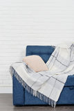 Blue couch Royalty Free Stock Photos