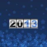 Blue counter 2013 year card Stock Photos