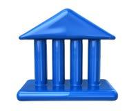 Blue courthouse icon. Illustration of blue courthouse icon Royalty Free Stock Photos