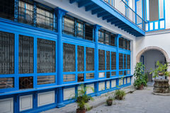Blue courtyard, Havana. Cuba Royalty Free Stock Image