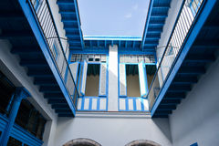 Blue courtyard, Havana. Cuba Royalty Free Stock Photo