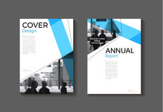 Blue cover abstract modern  cover book Brochure template, design Stock Images