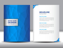 Blue Cover Annual report template Royalty Free Stock Images