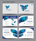 Blue Cover design and inside template for magazine, ads, presentation, annual report, book, leaflet, poster, catalog, printing. Media, newsletter, business Stock Photography