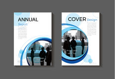 Blue cover design modern book cover abstract Brochure cover  tem Royalty Free Stock Photography