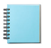 Blue Cover Note Book. On white background stock photos