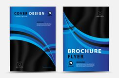 Blue cover template vector design, brochure flyer, annual report, mgazine ad, advertisement, book cover layout, poster, catalog. Newspaper, creative idea Real stock illustration