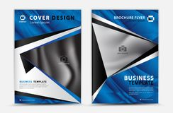 Blue cover template vector design, brochure flyer, annual report, mgazine ad, advertisement, book cover layout, poster, catalog,. Newspaper, creative idea Real royalty free illustration