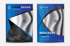 Blue cover template vector design, brochure flyer, annual report, mgazine ad, advertisement, book cover layout, poster, catalog,. Newspaper, creative idea Real stock illustration