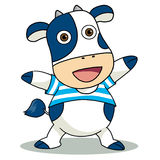 Blue cow. A happy blue cow icon for welcome Royalty Free Stock Images