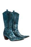 Blue cowboy boots Stock Image