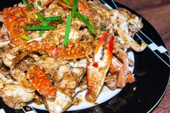 Blue crab cooked in traditional Thai style Stock Photography