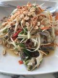 Blue crab som tum thai. Royalty Free Stock Photo