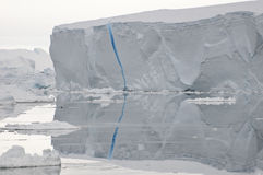 Blue crack iceberg Stock Photos