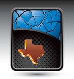 Blue cracked backdrop with texas state icon Royalty Free Stock Photos