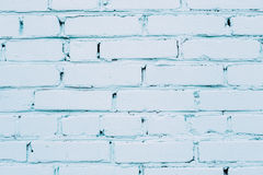 Blue cracked brick wall Royalty Free Stock Photo