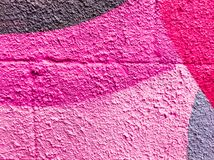 Multicolor of violet and pink watercolor hand painted on street wall art. Abstract ars background royalty free stock images