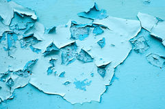 Blue cracked surface Stock Photos