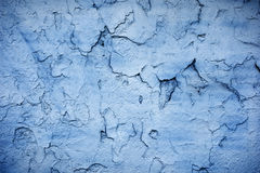 Blue cracked wall Royalty Free Stock Image