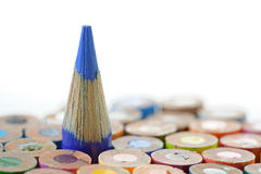 Blue Crayon Royalty Free Stock Images