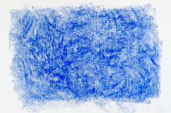 Blue crayon drawings background texture Stock Images