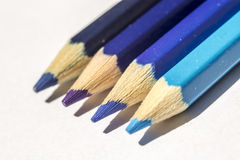 Blue Crayons Stock Image