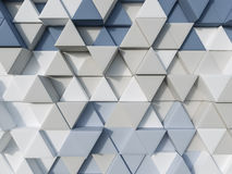 Blue and cream abstract 3d triangle background Stock Illustration