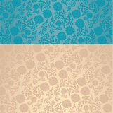 Blue and cream Asian lotus wallpaper horizontal banner Stock Photography