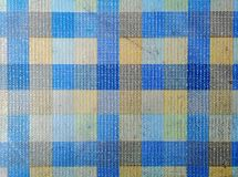 Blue, cream and black color plaid fabric stripe pattern for background. And backdrop design stock photos