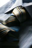 Blue and cream tie Royalty Free Stock Photography