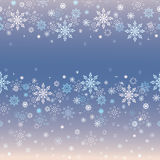 Blue and creamy snowflakes background Stock Photos