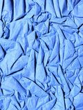 Blue crease paper Royalty Free Stock Photo