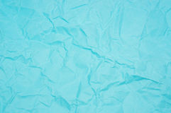 Blue creased paper Royalty Free Stock Photo