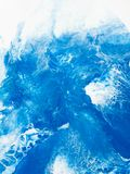 Blue creative abstract hand painted background, marble texture,. Abstract ocean, fragment of acrylic painting on canvas. Modern art. Contemporary art stock photography