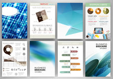 Blue creative backgrounds and abstract concept infographics Royalty Free Stock Photo