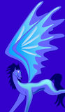 Blue creature with wings Royalty Free Stock Image