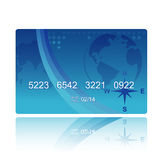 Blue credit card Royalty Free Stock Photo