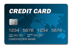 Blue credit card 2 Royalty Free Stock Image