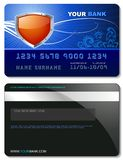 Blue Credit Card Royalty Free Stock Image