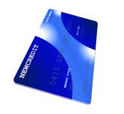 Blue Credit Card. On white Royalty Free Stock Photos