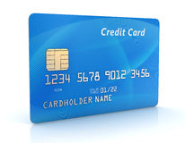 Blue Credit Card Royalty Free Stock Images