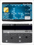 Blue credit card design Stock Images