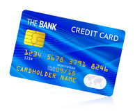 Blue credit card Stock Photos