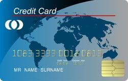 Blue credit card vecto Stock Photos