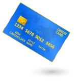 Blue Credit Card royalty free illustration
