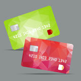 Blue credit card vector illustration, highly Royalty Free Stock Photography