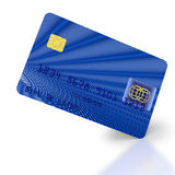 Inclined blue credit card Stock Photography