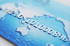 Blue Credit Card Royalty Free Stock Photography
