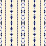 Blue and Creme Damask Seamless Pattern Stock Photography