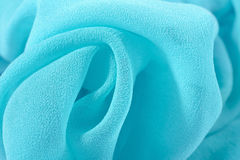 Blue crepe de chine fabric Royalty Free Stock Photography